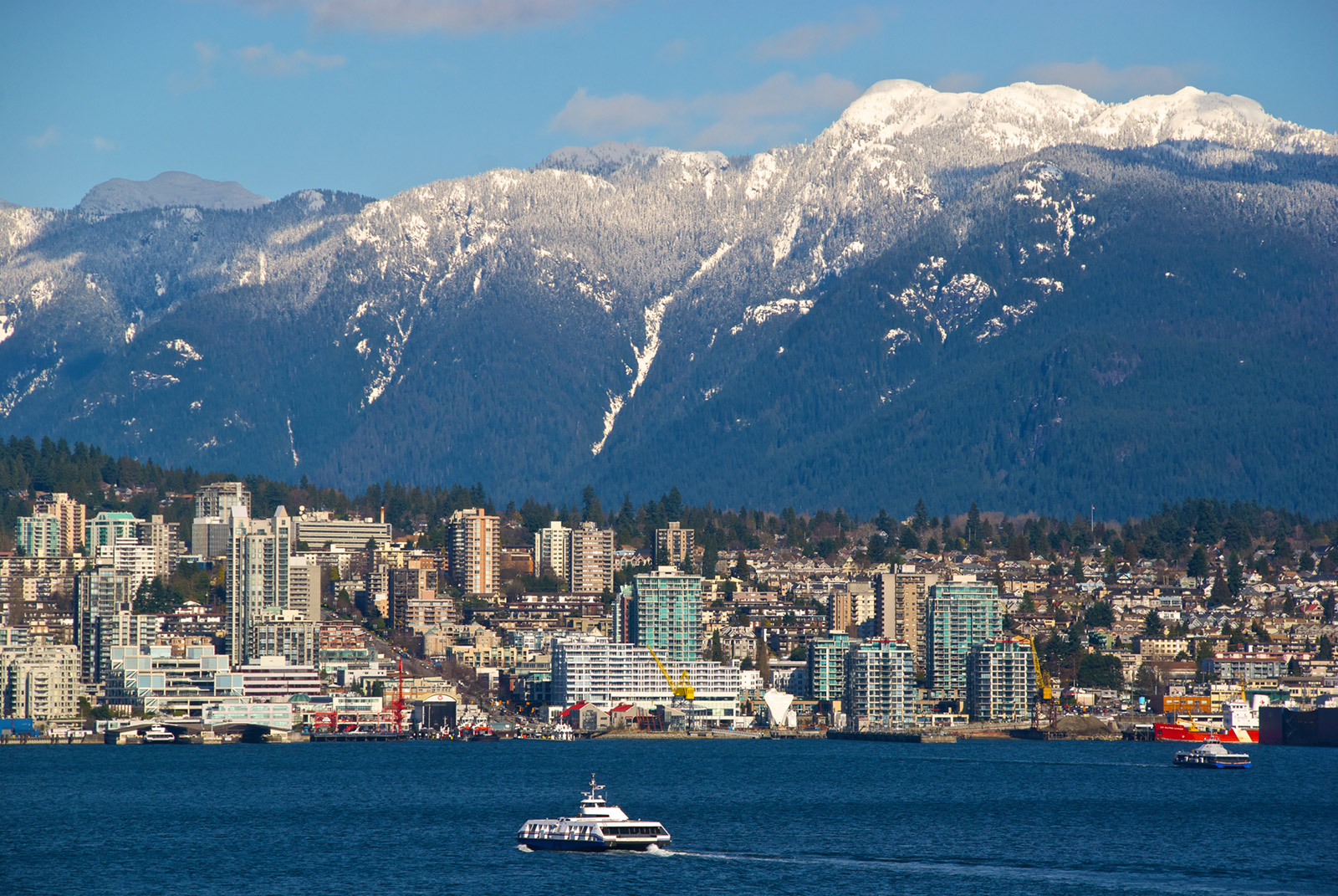 Vancouver is a modern city that provides a diverse range of scenery.