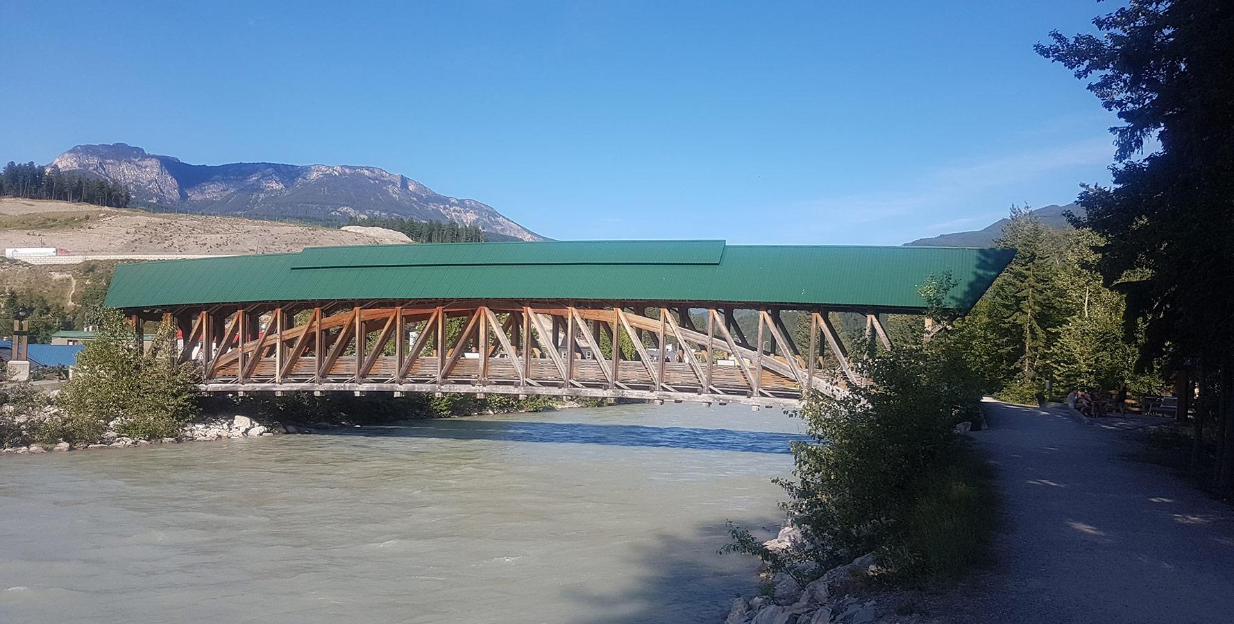 A bridge in Golden, BC, Canada.