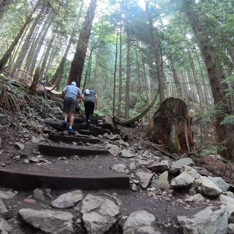 Top things to do in Vancouver, BC.  Do the Grouse Grind in Two Minutes!