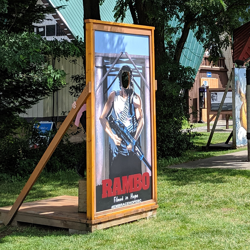 After hiring a one-way car rental from Vancouver to Calgary, we look for the top things to do in Hope, BC. We chose the Rambo - First Blood Walking Tour.